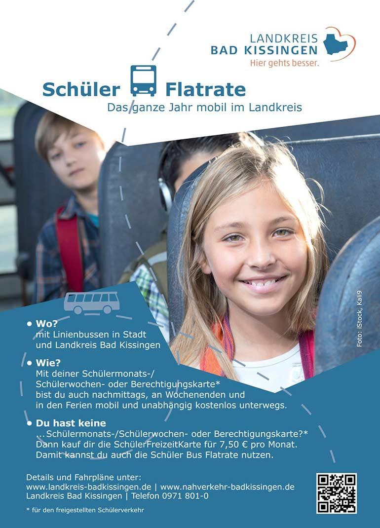 Landkreis Bad Kissingen - Aktuelles: Anzeige Schüler Bus Flatrate